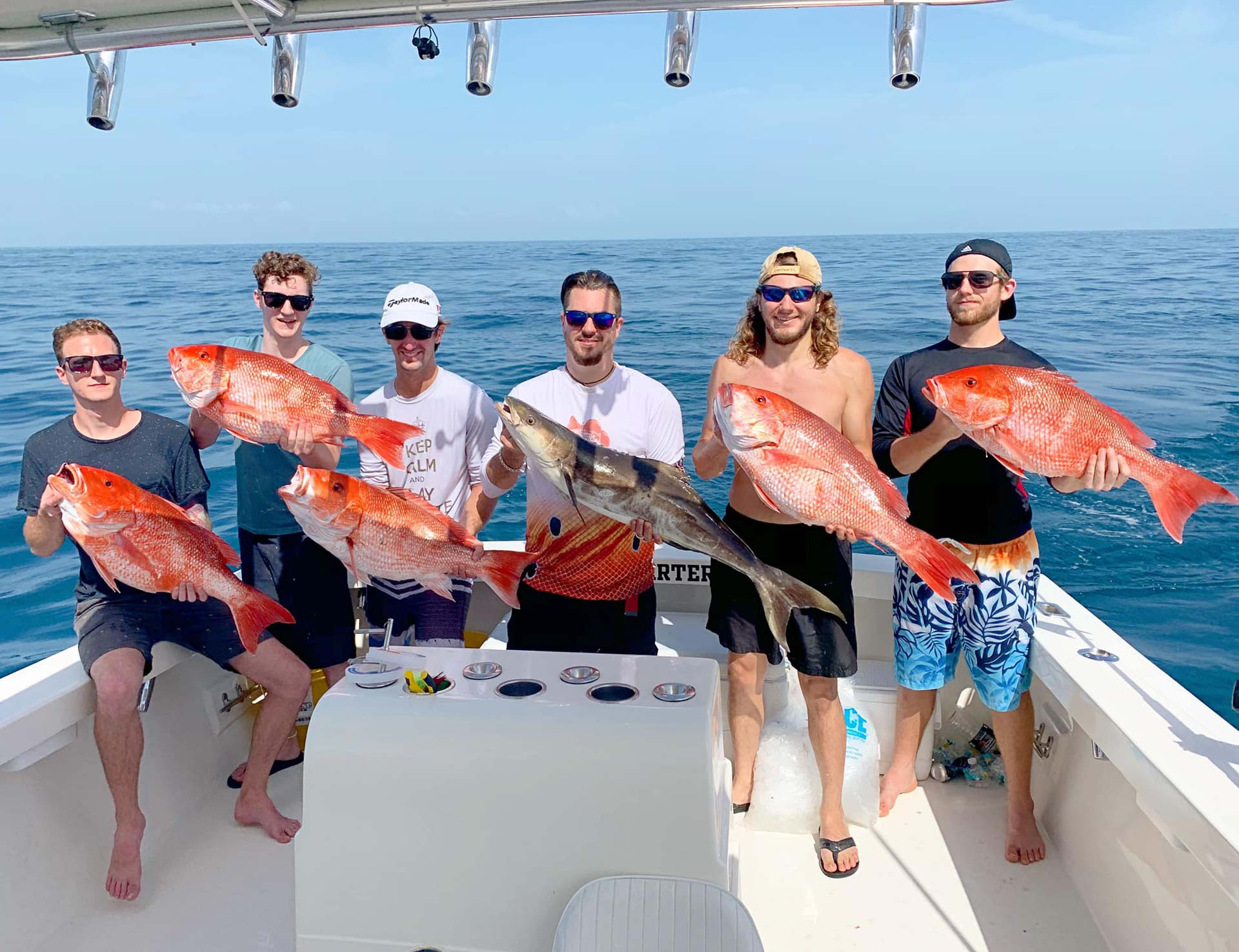 A group in Daytona Beach caught redfish on Deep Sea Fishing Charter